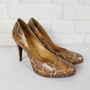 Nine West Size Snake Skin Heels  Size 12M